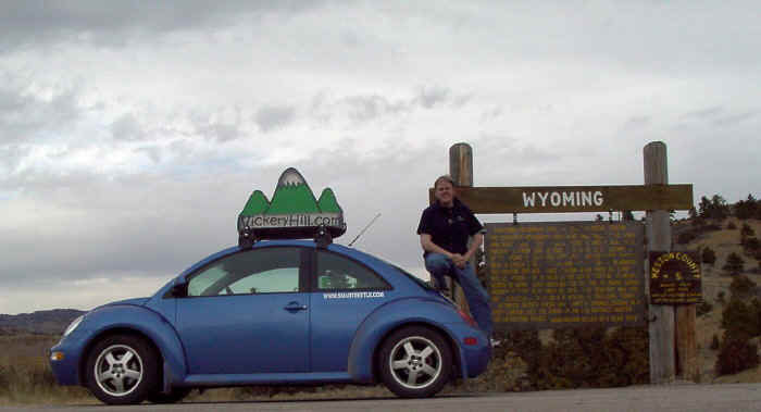 steve and the smartbeetle make it to Wyoming